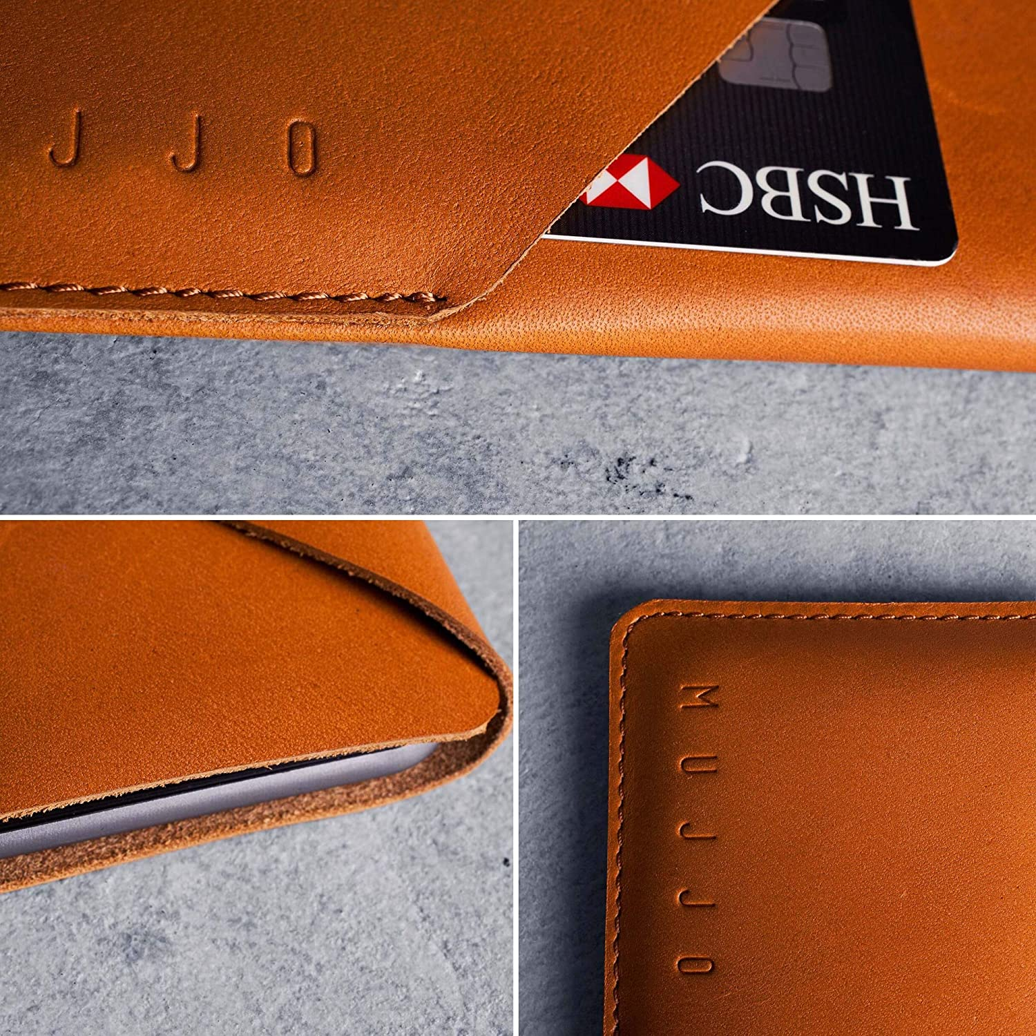 Amazon.com: Mujjo Wallet Sleeve Envuelto Super Slim Clean ...