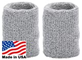 Unique Sports Thick Wristbands, One Size, Gray