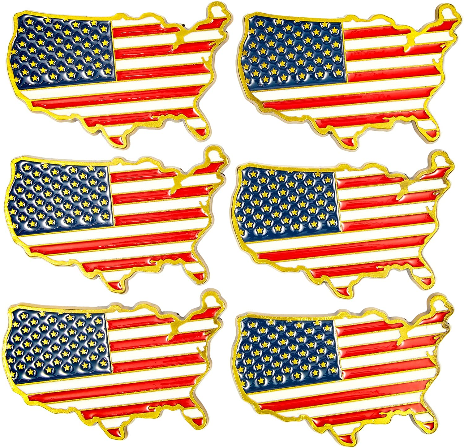 Juvale American Flag Magnets for Fridge – Pack of 6, 3 x 1.5 Inches
