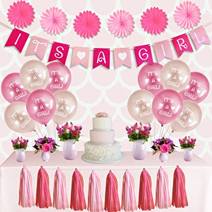 Amazon Comfy People Girl Baby Shower Decorations Set Its A