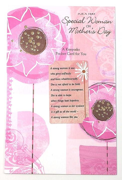 Amazon mothers day card keepsake pocket card for a very mothers day card keepsake pocket card for a very special woman on mothers day m4hsunfo