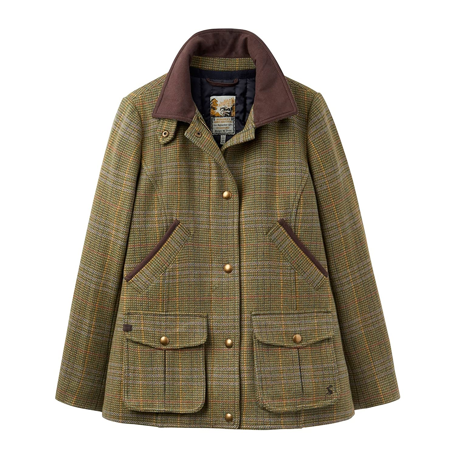Joules Womens oficial Burghley Fieldcoat Tweed Jacket- Señor sapo, Mr Toad