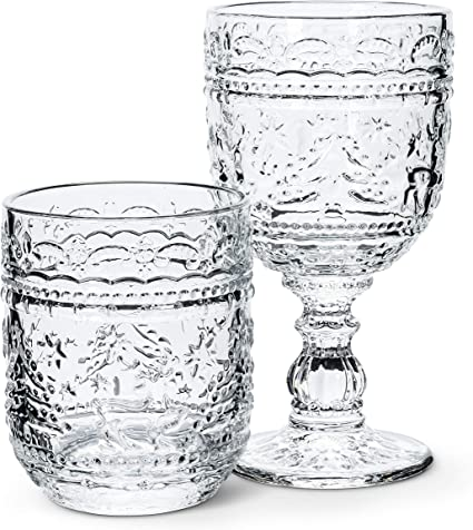 Abbott Collection Home 27-Merry-GOB Abbott Collection Holiday Motif Goblet