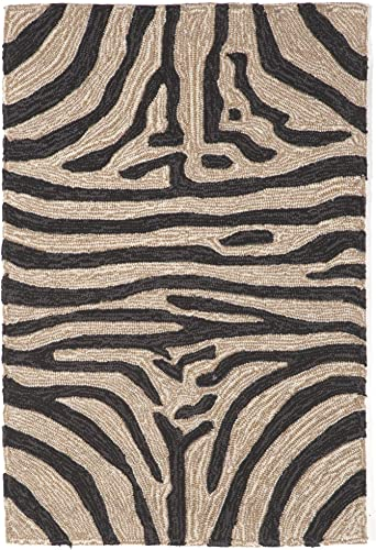 Liora Manne Ravella Zebra Indoor Outdoor Rug Black 24 X36