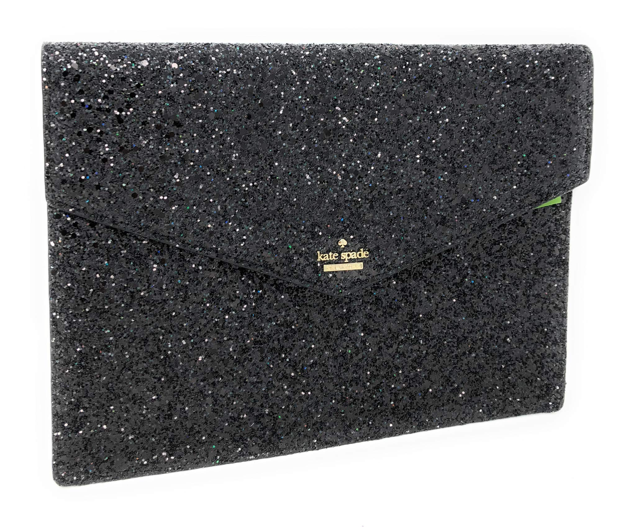 Kate Spade Mallo Laurel Way Glitter Clutch Evening Bag Black