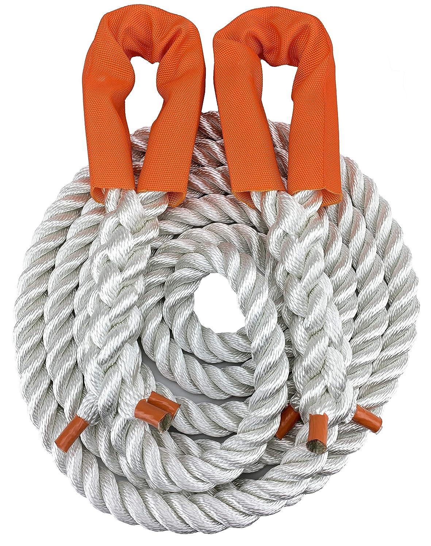 4 x 4-10 m x 22 mm RopeServices UK Nylon-Abschleppseil f/ür 9 Tonnen