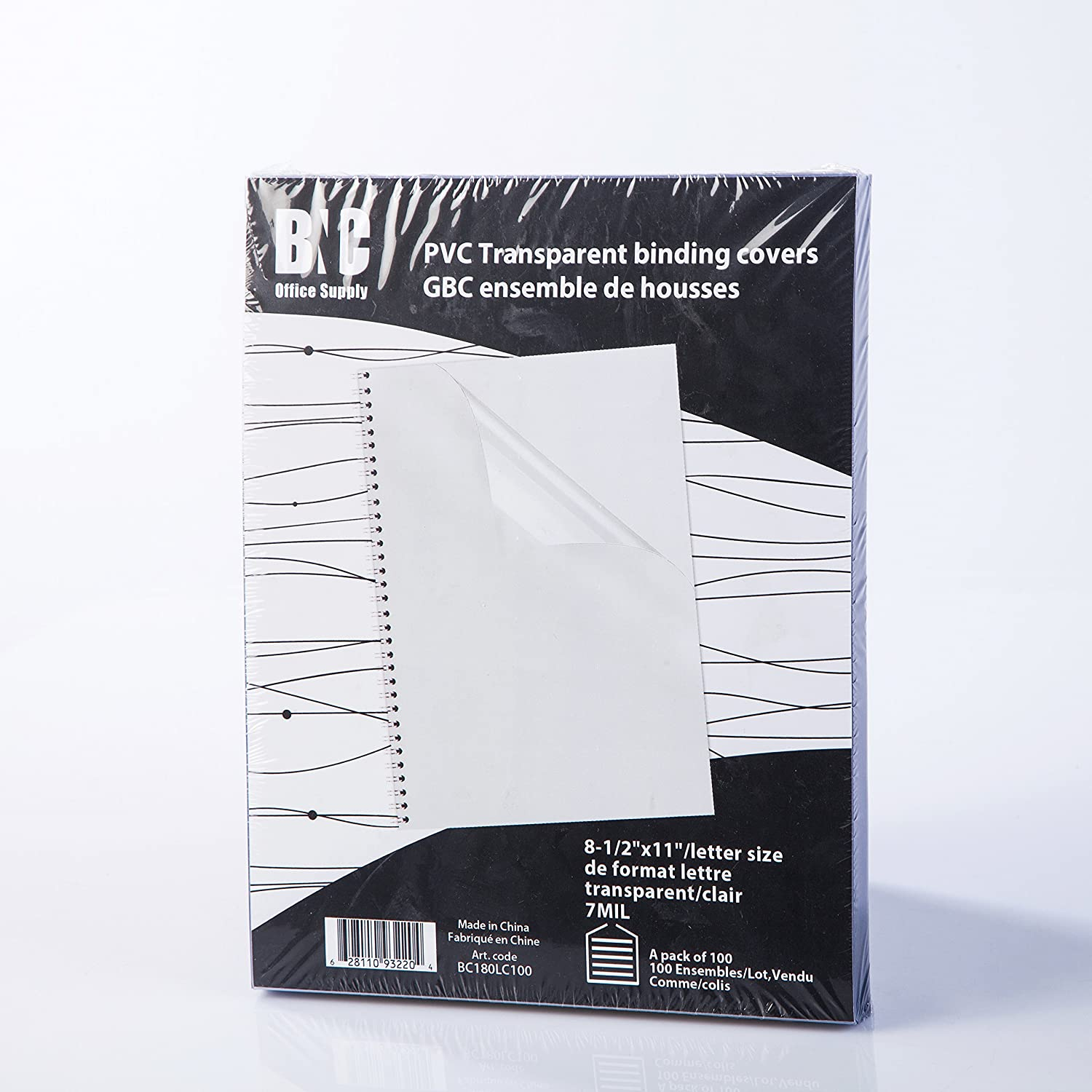 B077H2RGCL BNC 7 Mil 8-1/2 x 11 Inches, Letter Size PVC Binding Covers - Pack of 100, Clear (BC180LC100) 91rhbYHBYoL