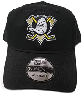 7131ff40a6d New Era 100% Authentic Anaheim Mighty Ducks Mask Classic Logo 9TWENTY  Adjustable Hat - Black