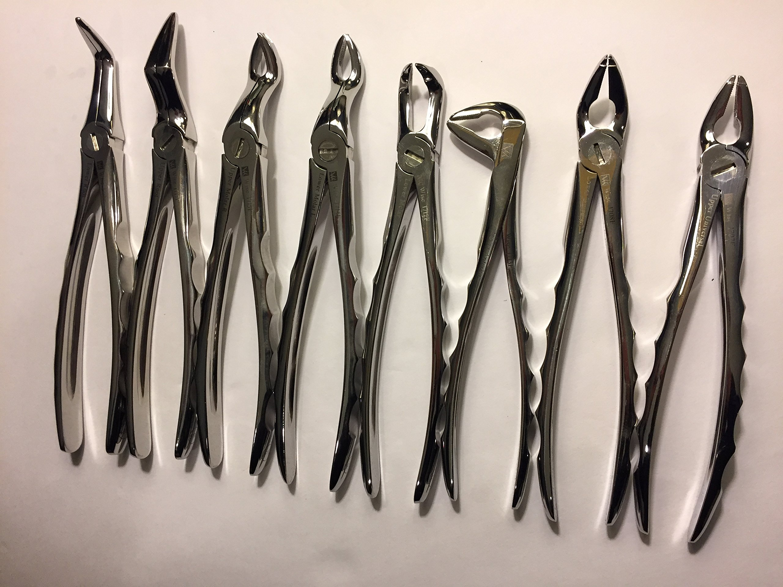 Dental-Surgical Extracting Extraction Forceps Set of 8