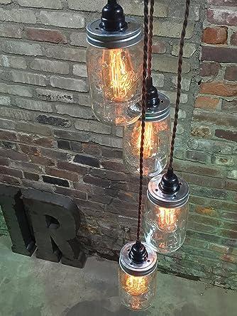 Mason jar chandelier swag light no hard wiring just hang it up mason jar chandelier swag light no hard wiring just hang it up and keyboard keysfo Images