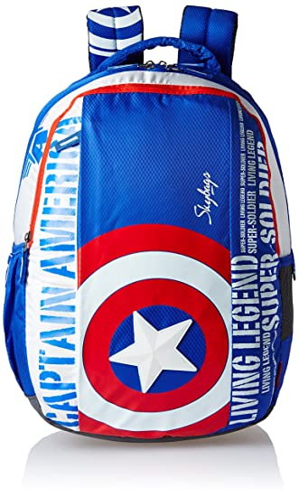 d4afcd33250f Skybags SB Marvel 32 Ltrs Blue School Backpack (SBMARCM3BLU)  Amazon.in   Bags