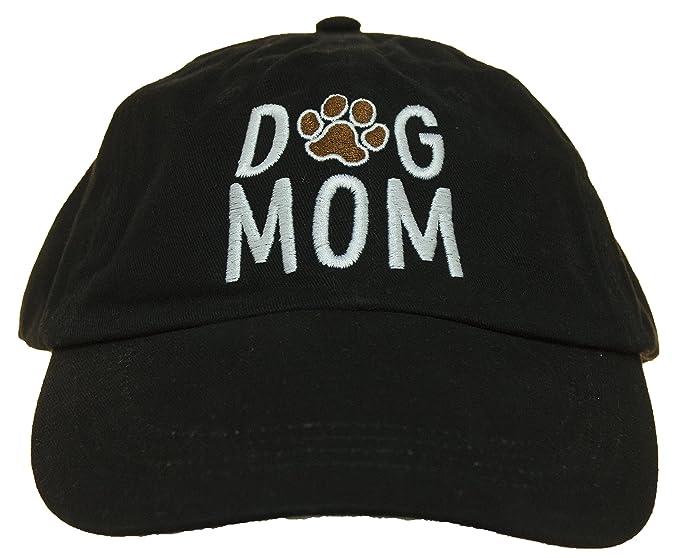 2f2f705254a54 Women s Dog Lovers Dog Mom Embroidered Adjustable Baseball Cap (Black)