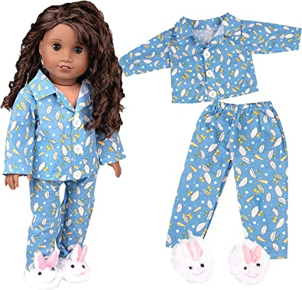 Handmade Doll T-shirt Pants Shoes Dress Pajamas for 18 inch Girl Doll Toys