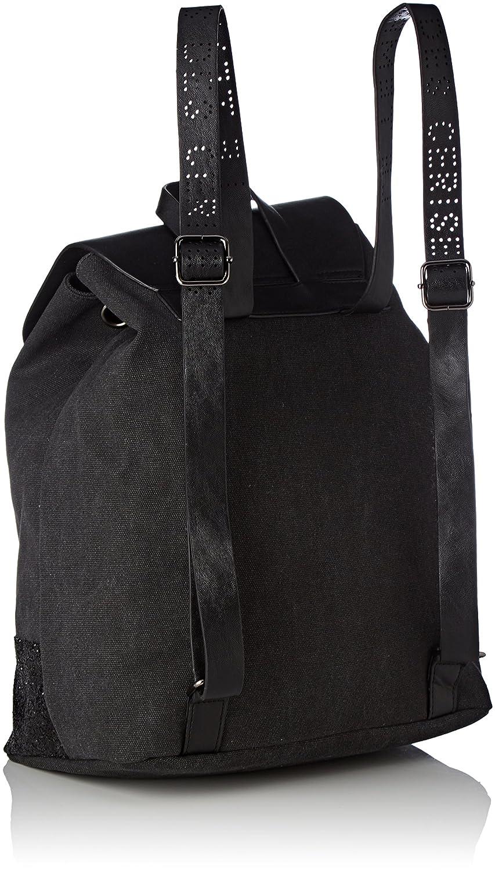 Beverly 3, Womens Backpack Handbag, Noir (Noir Paillette), 18x36x30 cm (W x H L) Le Temps Des Cerises