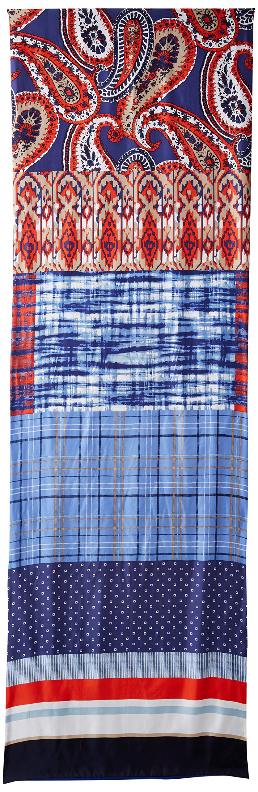 Bcbgmaxazria Women's Patchwork Wrap, Blue Depths, One Size by BCBGMAXAZRIA (Image #2)
