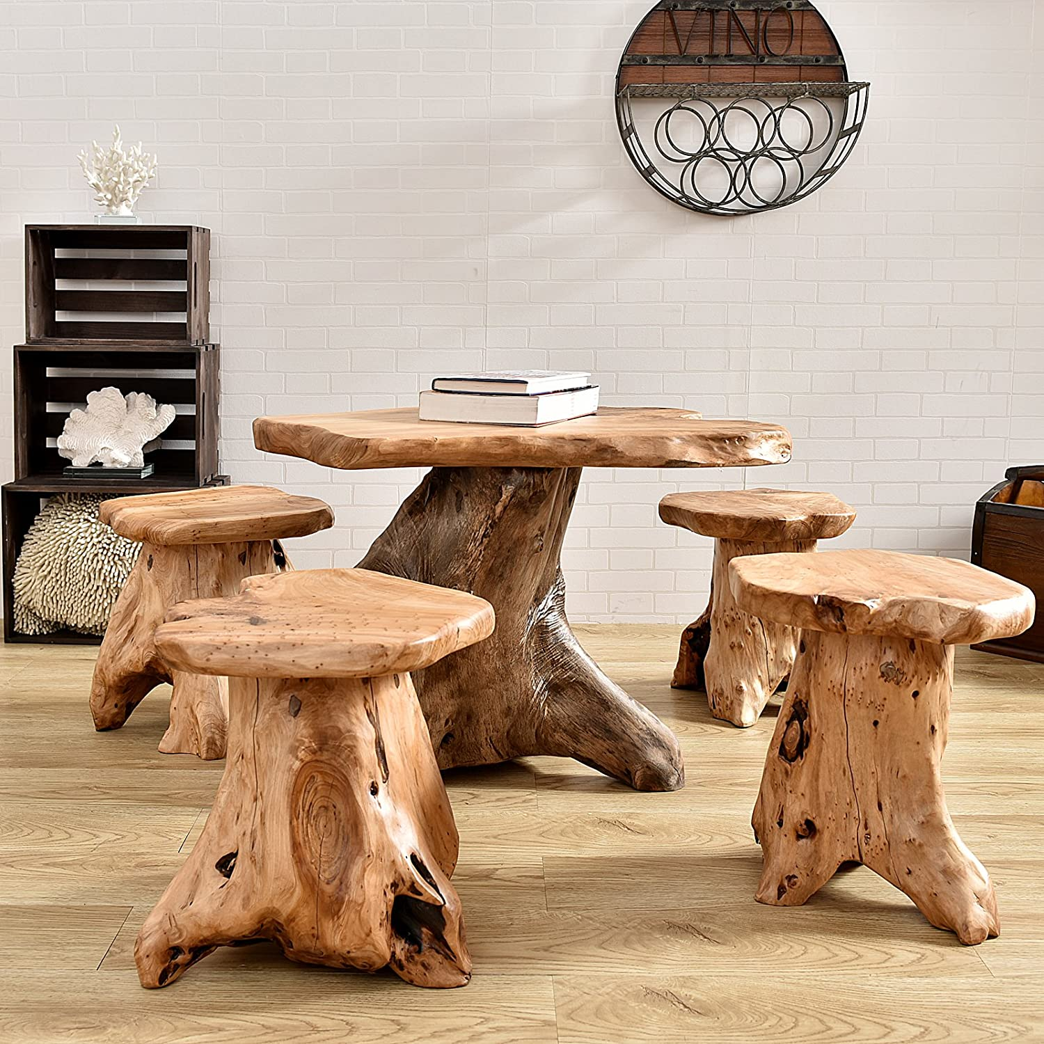 Tree Stump Stool - Amazon com welland outdoor indoor wood stump mushroom stools kitchen dining