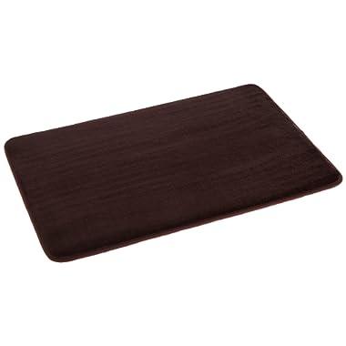 AmazonBasics Non-Slip Memory Foam Bath Mat 18'' x 28'', Dark Brown