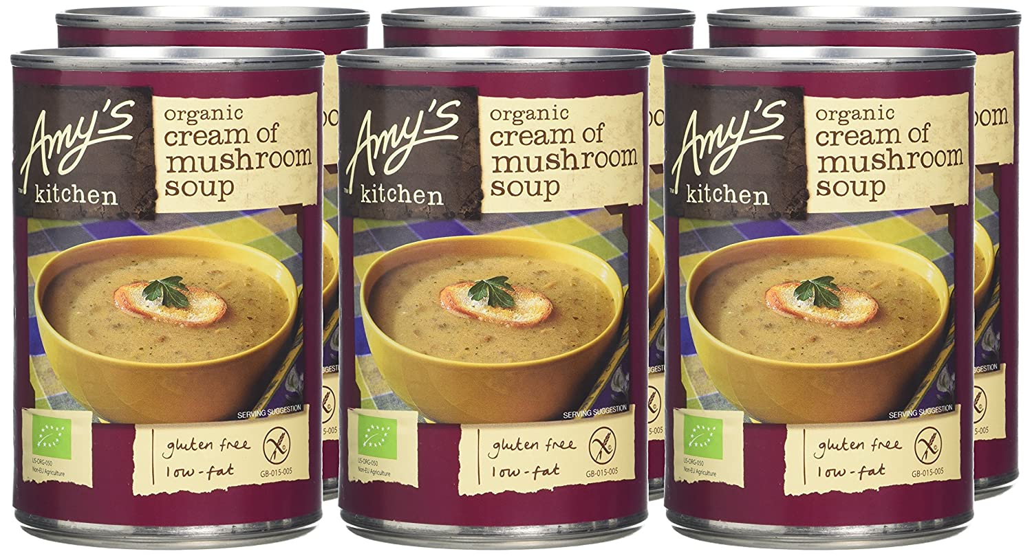 Organic Soup Kitchen Amys kitchen mushroom soup 400 g pack of 6 amazon grocery workwithnaturefo