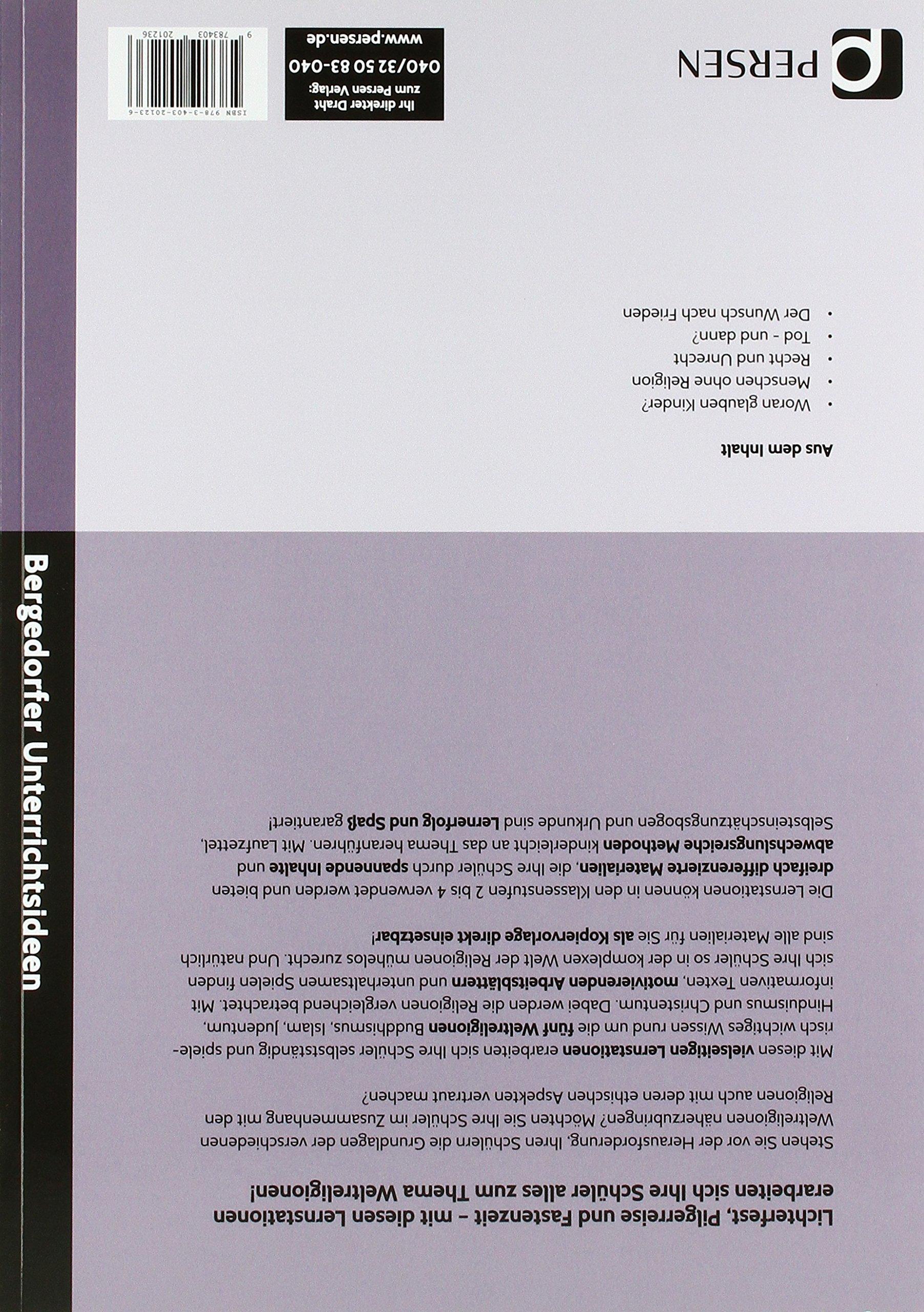 Lernstationen Religionen der Welt: 9783403201236: Amazon.com: Books