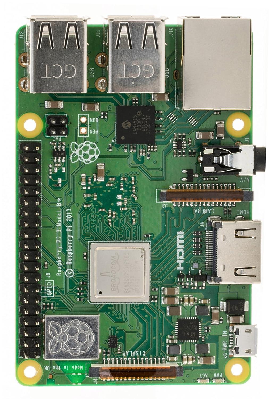 B Plus Complete Starter Kit V-Kits Raspberry Pi 3 B+ 16GB /& Clear Case Edition 2018 Model
