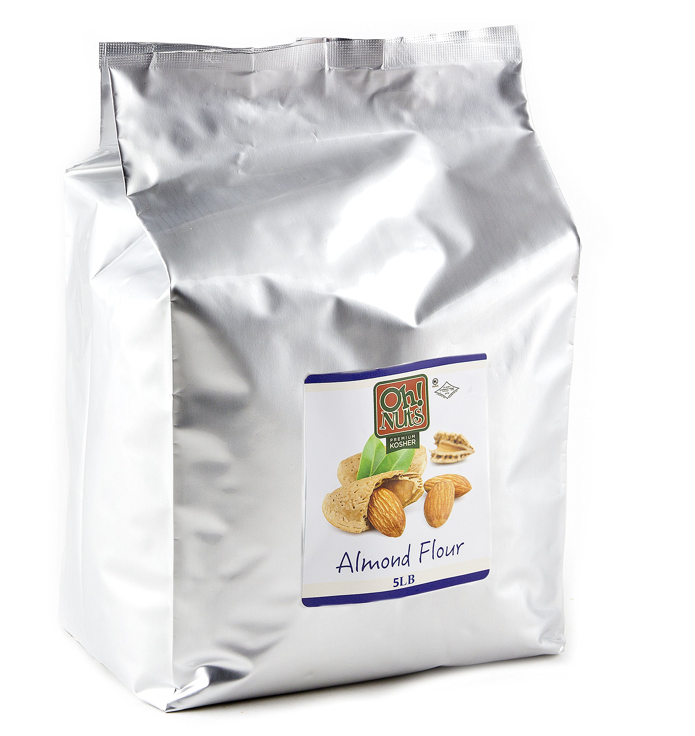 5LB Almond Flour Blanched, Extra Fine Ground Almond Meal - Oh! Nuts (5 LB Bag Blanched Almond Flour) by Oh! Nuts
