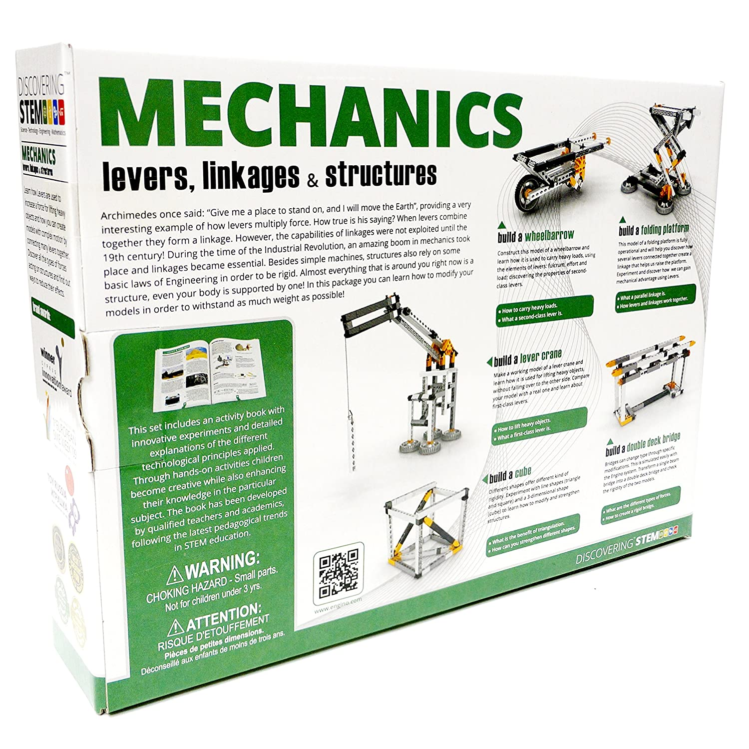 Engino Discovering Stem Levers Linkages Structures Snap Circuits Parts Building Kit Toys Games
