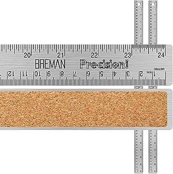 Breman Precision Stainless Steel Cork Back Ruler 15