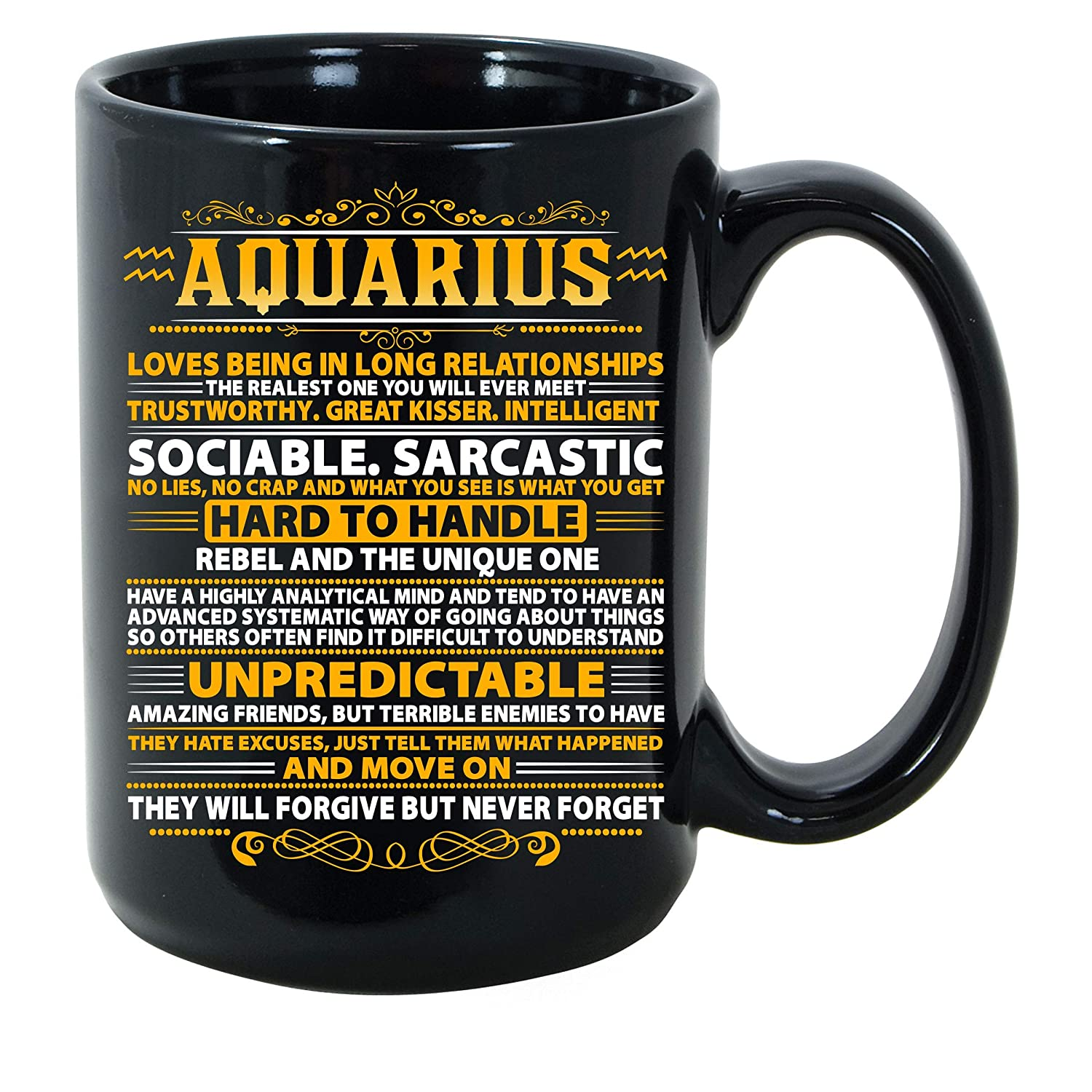 Amazon.com: Aquarius Identification Signs Horoscopio Zodiac ...