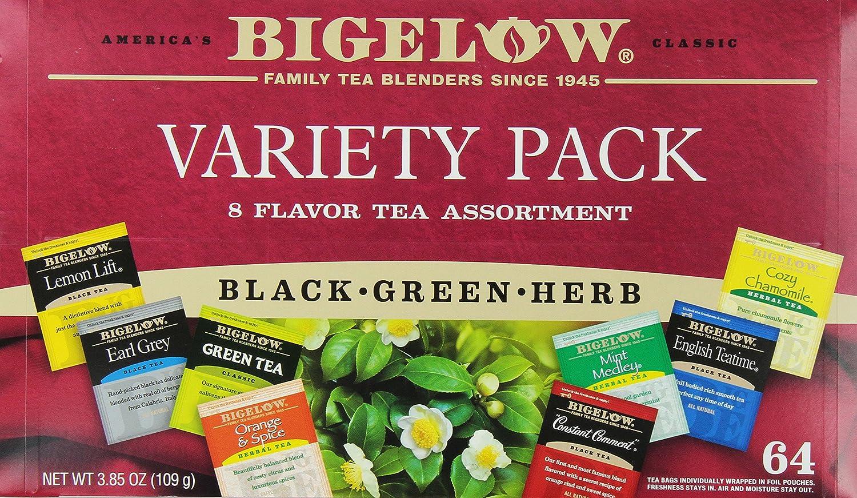 Bigelow herbal tea - Amazon Com Bigelow Tea Variety Pack 8 Flavor Assortment 64 Count Boxes Pack Of 2 Grocery Tea Sampler Grocery Gourmet Food