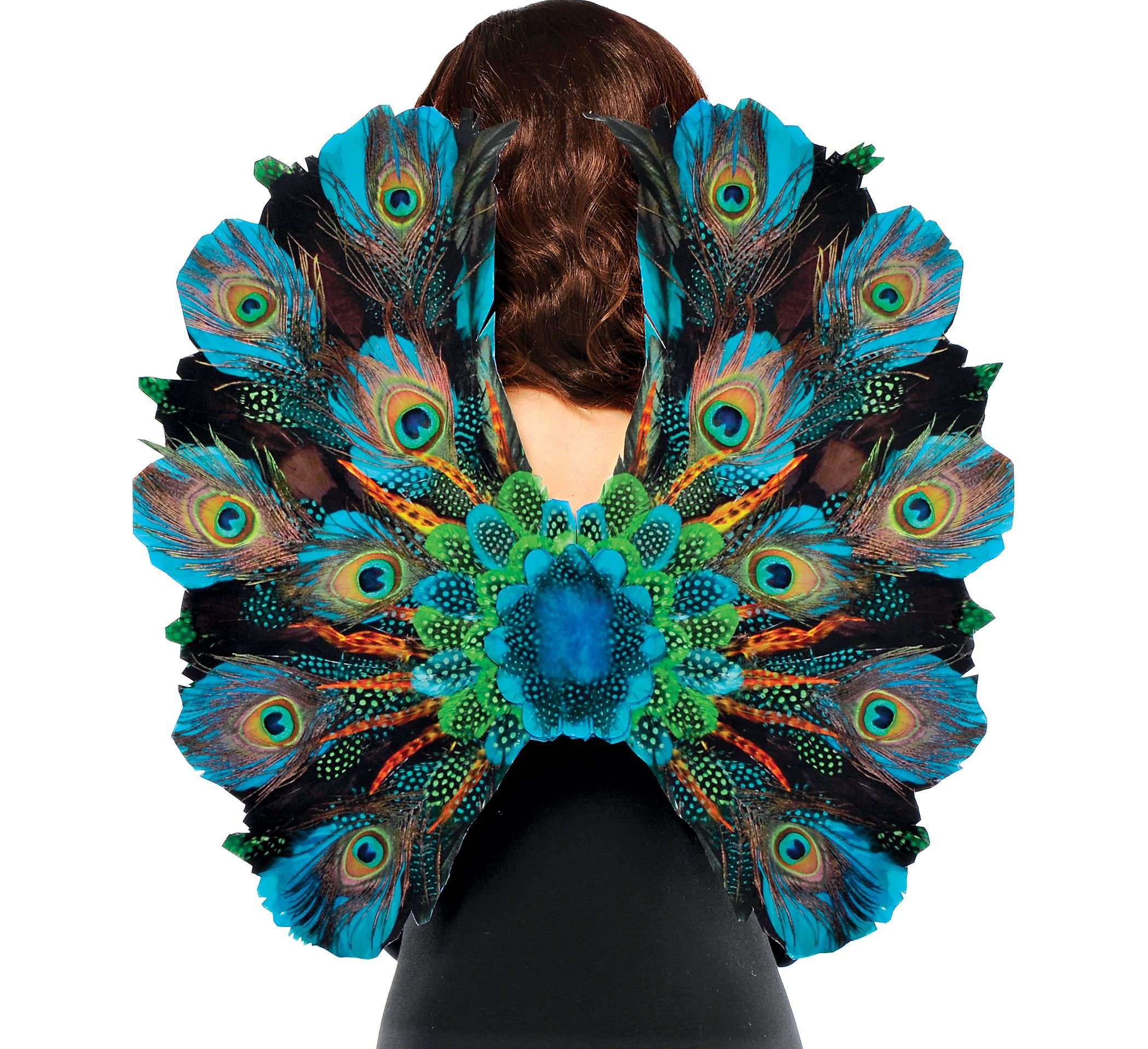 AMSCAN Peacock Feather Wings Halloween Costume Accessories for Adults, One Size