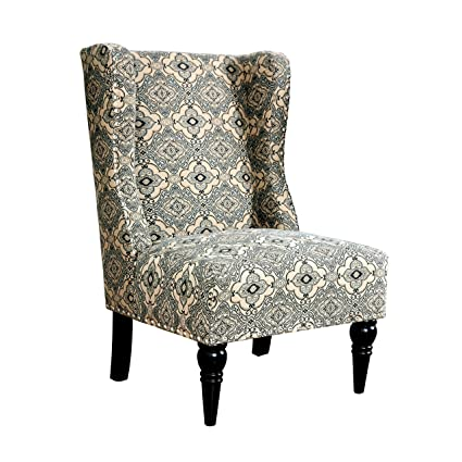 HOMES: Inside + Out IDF AC6182A Ajax Contemporary Chair, Damask