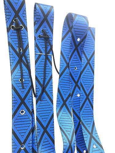 85e507df94f0 Amazon.com: Royal blue and black cinch strap set nylon latigo: Handmade