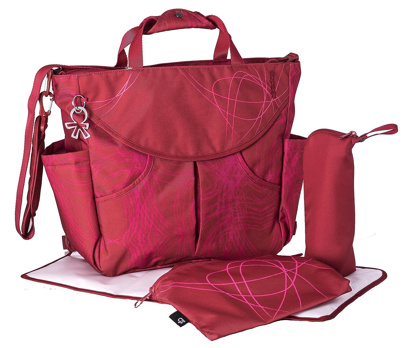 Okiedog SUMO 39021 flexible Wickeltasche mit mit mit Henkel, Schultergurt, Rucksack, Kinderwagenhaken, Wickelunterlage, isol. Flaschenhalter und Zubehörbeutel, Scribbles rot, ca. 47 x 40 x 14 cm B01NCKRYLC Henkeltaschen Verhandeln ae1007