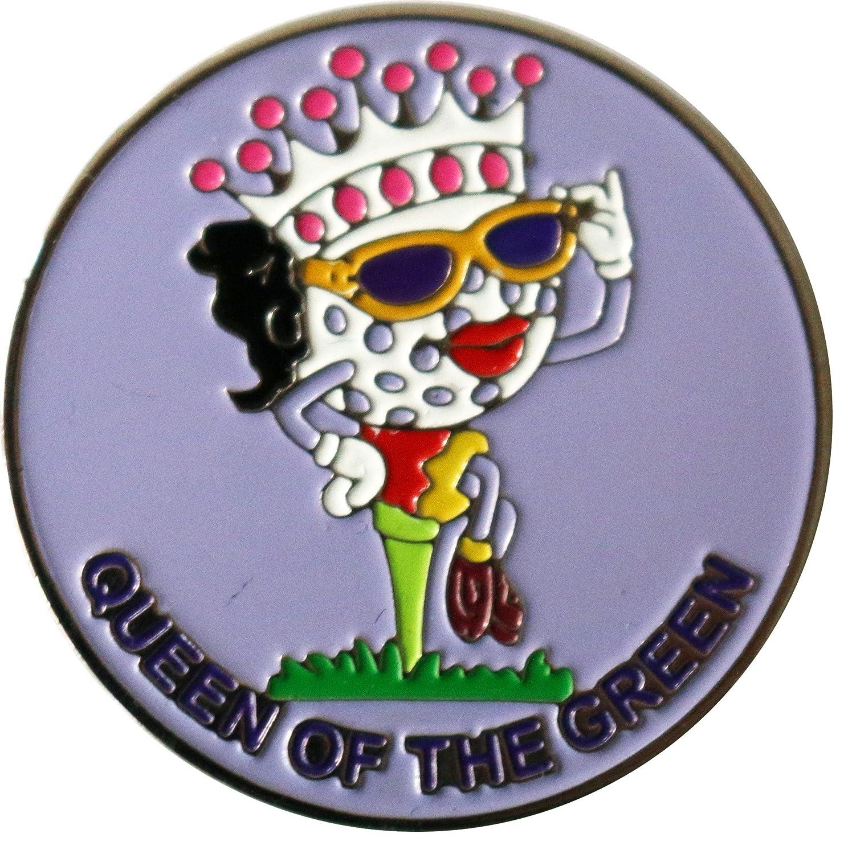 Queen of theグリーンラベンダーゴルフボールマーカーwith Be Theボール帽子クリップ   B077ZG884H