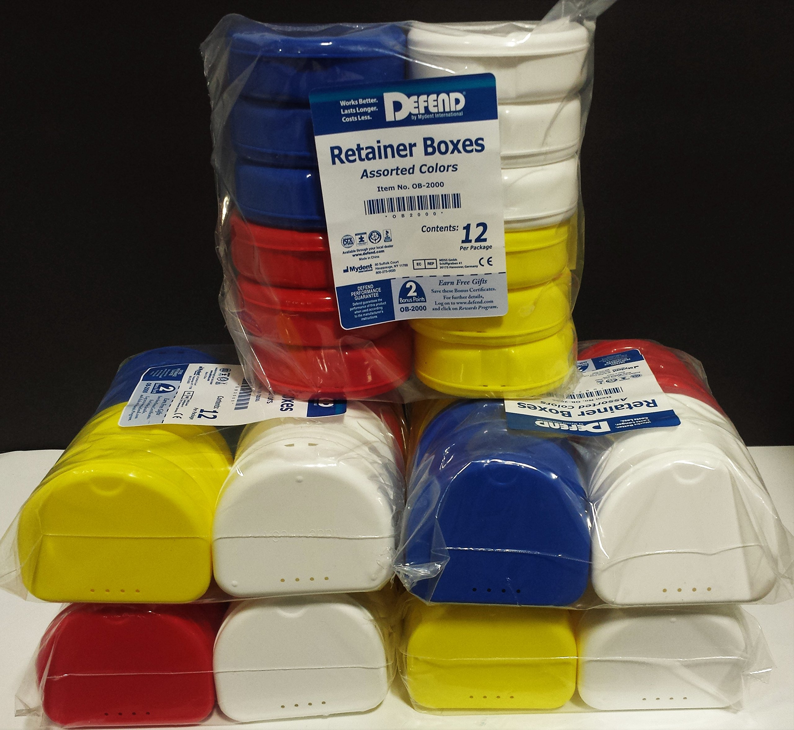 60 Retainer Box Assorted Colors by Defend by DEFEND (Image #1)