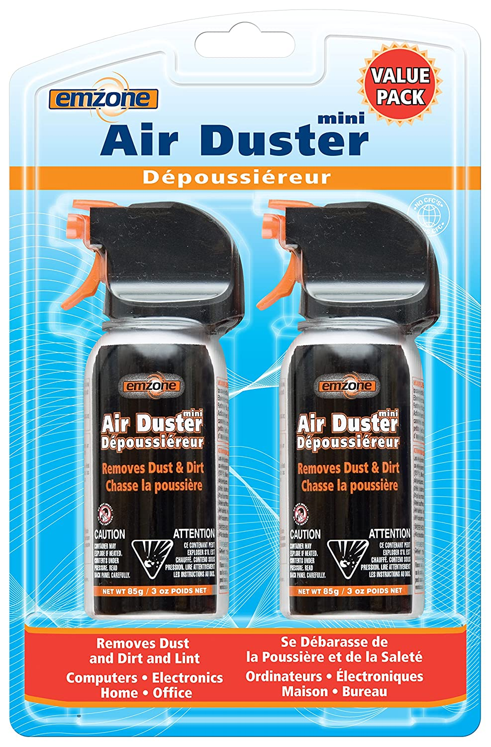 EMPACK EMP47062 Mini Value Pack Air Duster-for Desktop Computer, Keyboard, Printer, Optical Disc Player, Digital Camera, Telephone-Moisture-Free, VOC-Free-1 Each S.P. Richards CA