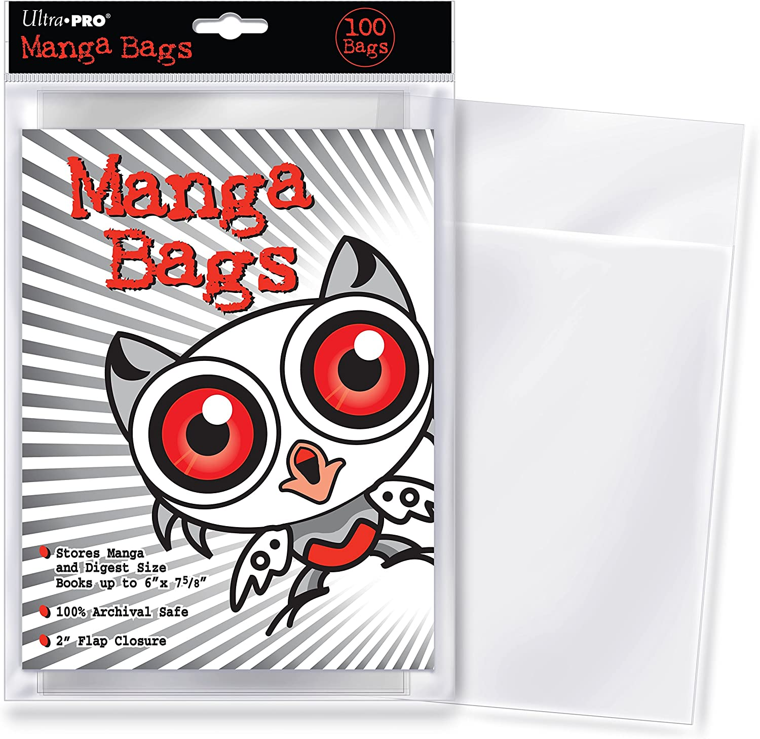 Ultra PRO Manga Size 6 x 7-5//8 Comic Bags Small Clear 100 Count Pack