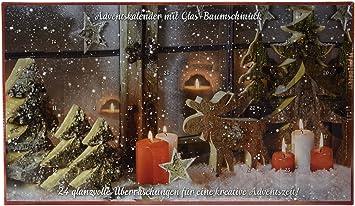 Heitmann DECO Krebs U0026 Sohn Adventskalender Mit Christbaumschmuck   24  Teiliges Set Aus Glaskugeln   Weihnachtsbaumschmuck