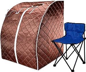 Durherm Infrared Sauna, Lowest EMF Negative Ion Portable Indoor Sauna