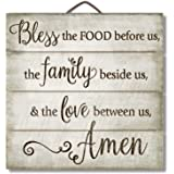 "Highland Graphics 12"" Inspirational Sign ""Bless the Food Before Us..."" Family Wall Decor"