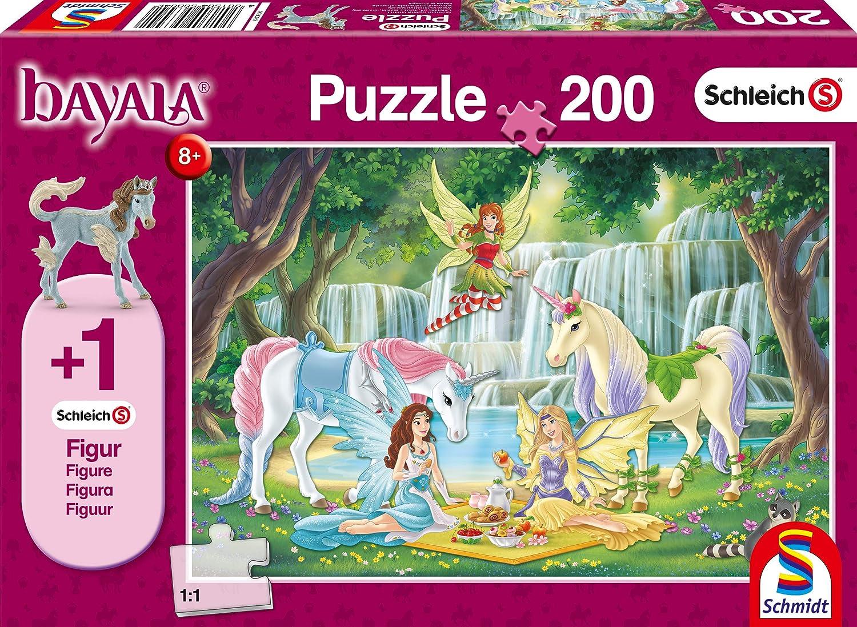 200 Teile Kinderpuzzle Schmidt Spiele Puzzle 56304 Schleich-Bayala bunt Picknick der Elfen Figur Eyelas K/önigsfohlen