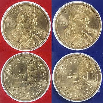 Amazon com: 2008 P D Native American Sacagawea Dollars Satin
