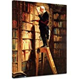 "Bilderdepot24 tela immagine Carl Spitzweg - Antichi Maestri ""Divoratore di libri"" 50x60cm - completamente incorniciato, direttamente dal produttore"