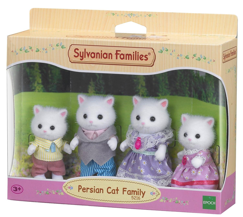 Amazon.es: SYLVANIAN FAMILIES Persian Cat Family Mini muñecas y Accesorios Epoch para Imaginar 5216: Juguetes y juegos