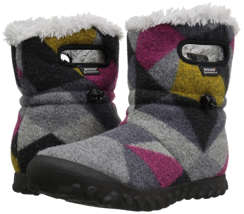 Bogs Women's Bmoc Wool Snow Boot B01MYS8Q84 8 B(M) US|Dark Gray/Gold
