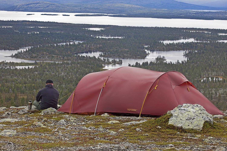 Nordisk Trekkingzelt Oppland 3 LW Tunnel Zelt 3 Personen Camping Leicht Nylon