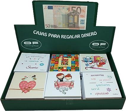 OF Creations 280063 - Expositor 42 caja regalo dinero, 10 x 10 cm: Amazon.es: Oficina y papelería