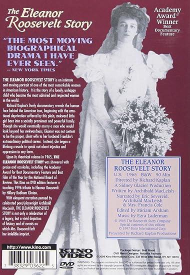 Amazon.com: Eleanor Roosevelt Story: Archibald Macleish, Frances Cole, Eric Sevareid, Corinne Alsop Cole, Hillary Clinton, Eleanor Roosevelt, ...