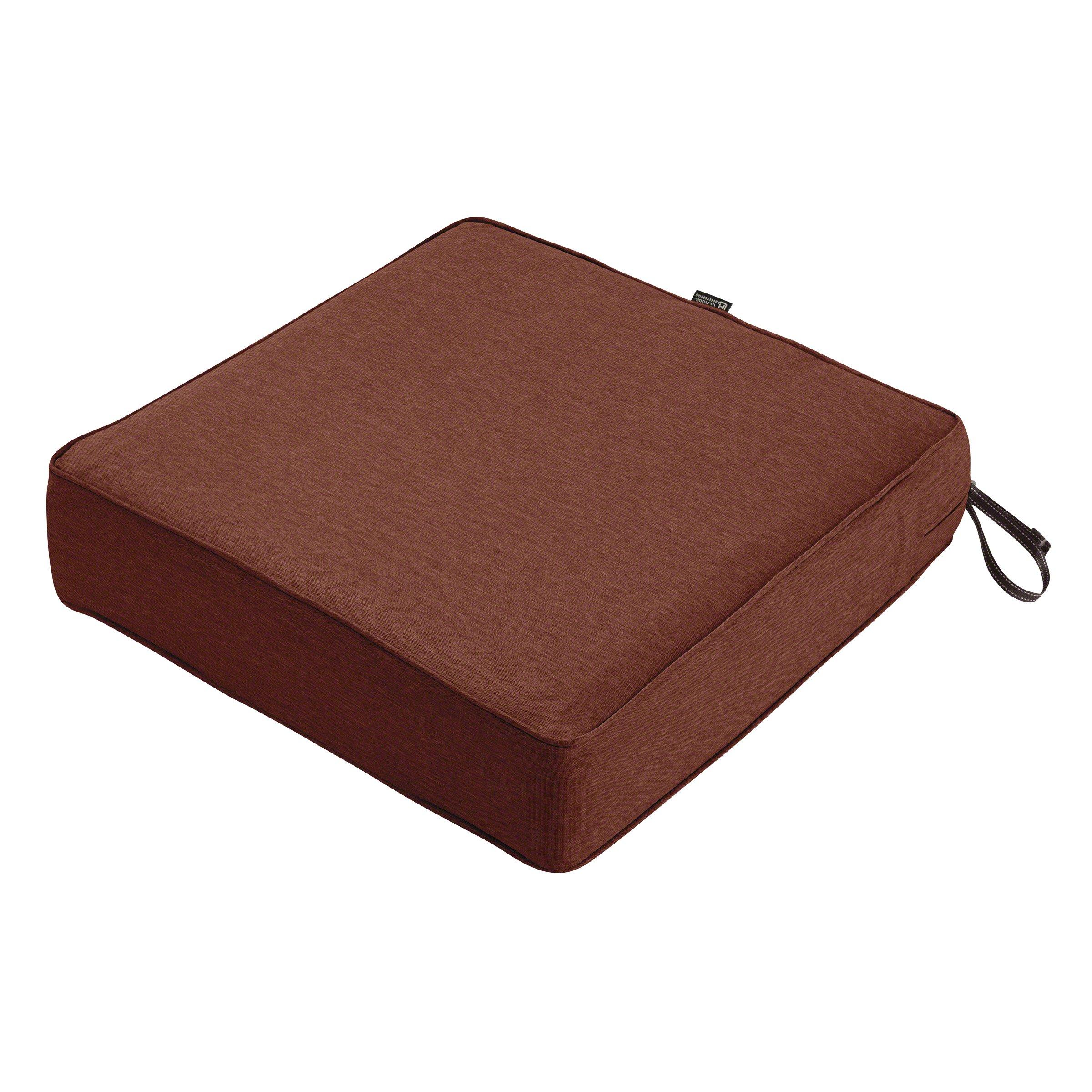 Classic Accessories Montlake Patio FadeSafe Seat Cushion, Henna 21'' Wx21 Dx5 T