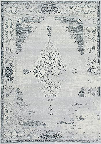 nuLOOM Sherrell Vintage Area Rug, 3 x 5 , Light Grey